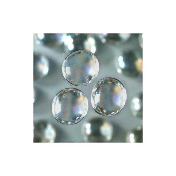 Galet Nuggets de verre lisse et plein coloré irisé, 13 à 15mm, ép. 8mm, 1 kg, env. 250 pièces - Photo n°1
