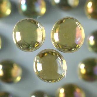 Galet Nuggets de verre lisse et plein coloré irisé, 13 à 15mm, ép. 8mm, 1 kg, env. 250 pièces