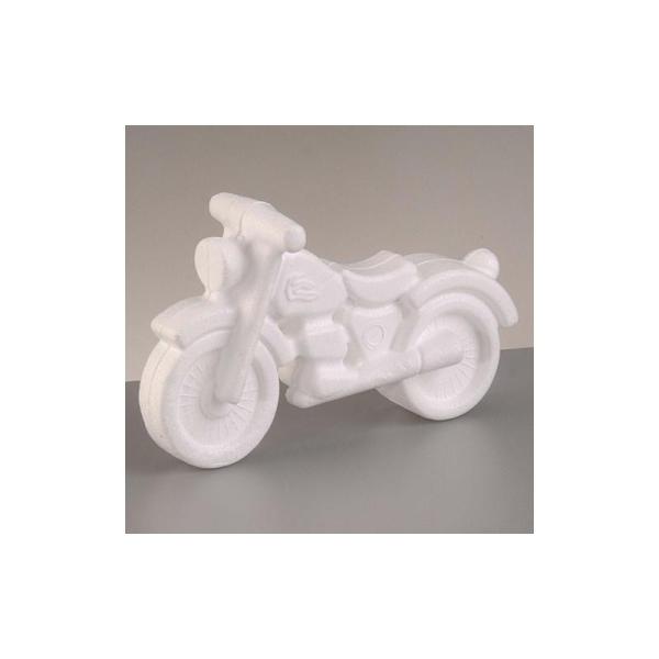Moto en polystyrène, hauteur 11cm x longueur 17cm - Photo n°1