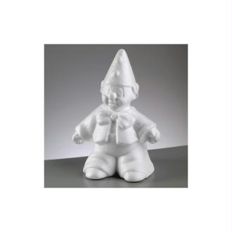 Arlequin en polystyrène, Clown de 25 cm de haut