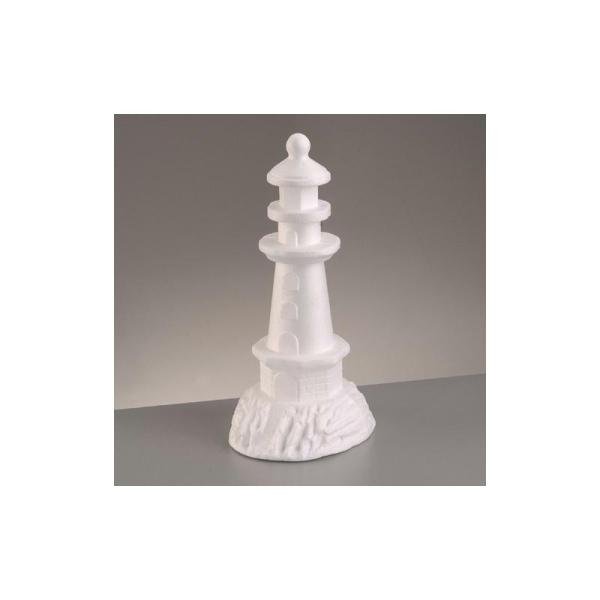 Phare en polystyrène, hauteur 30,5 cm - Photo n°1
