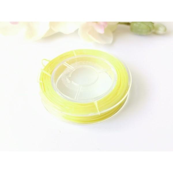 Fil élastique jaune 0.5 mm x 10 m environ - Photo n°2