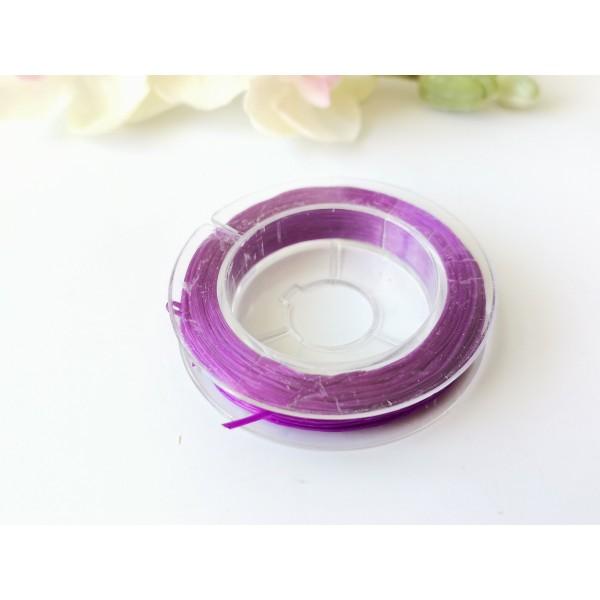 Fil élastique violet 0.5 mm x 10 m environ - Photo n°2