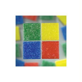 Mosaïque en verre, carrée, 1x1cm, épaisseur 4mm, env. 300 pièces, 200g