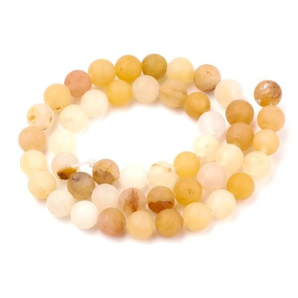 90 Perles en Jade naturel 4 mm - Photo n°1