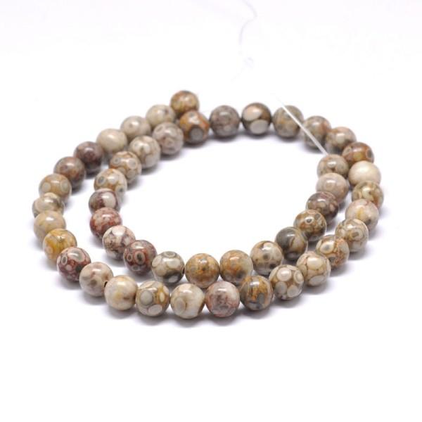 60 Perles maifanite naturelle/pierre médicale - Photo n°1