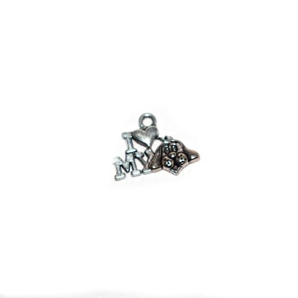 Assortiment breloques/pendentifs thème chien argenté x20 - Photo n°2