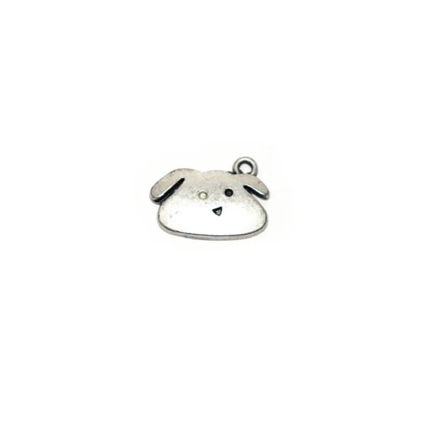 Assortiment breloques/pendentifs thème chien argenté x20 - Photo n°4
