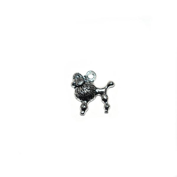 Assortiment breloques/pendentifs thème chien argenté x20 - Photo n°5