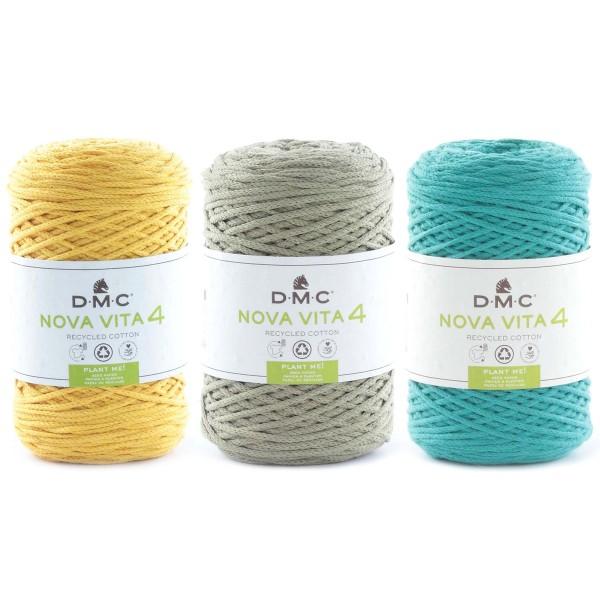 Fil DMC coton recyclé Nova Vita 4 - Macramé, Crochet, Tricot - 250 g - Photo n°1