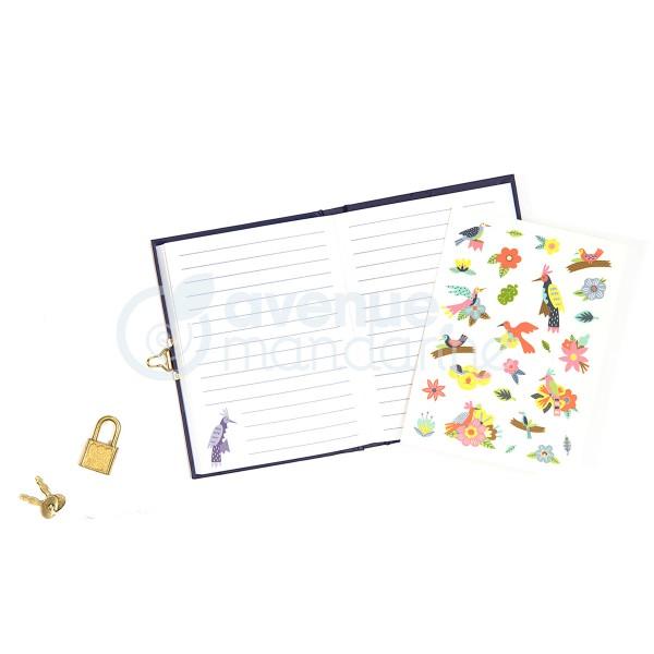 Journal intime - 14 x 10,5 cm - Oiseaux et Fleurs - 240 pages - Photo n°2