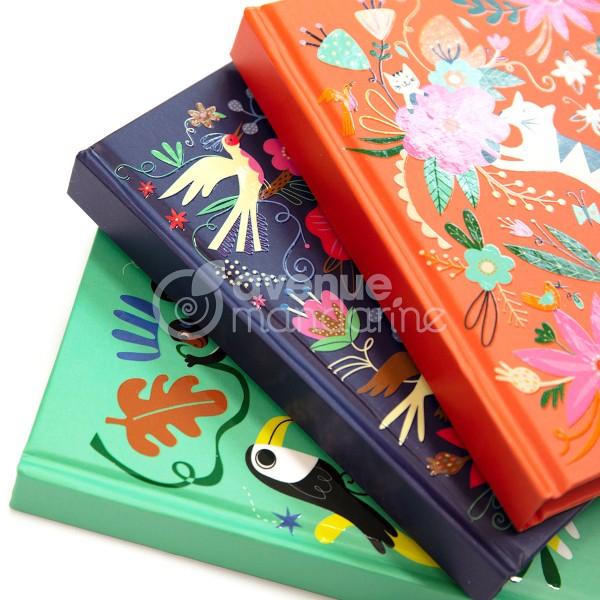 Journal intime - 14 x 10,5 cm - Oiseaux et Fleurs - 240 pages - Photo n°3