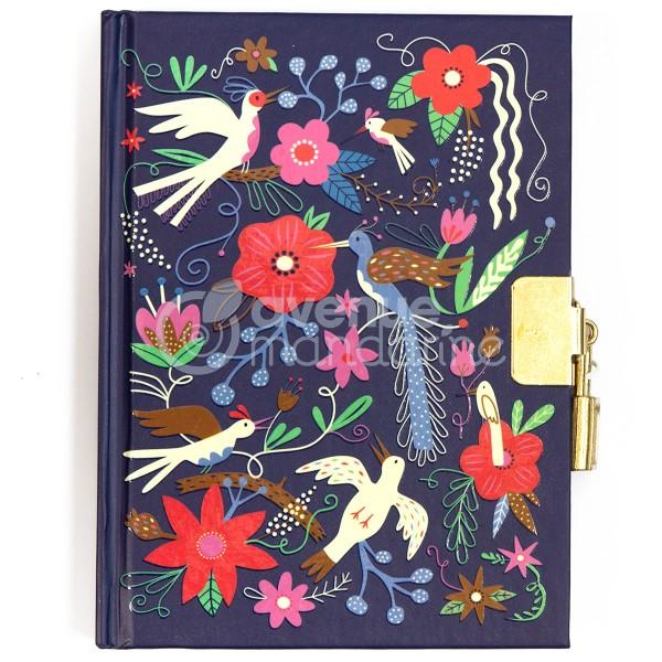 Journal intime - 14 x 10,5 cm - Oiseaux et Fleurs - 240 pages - Photo n°1