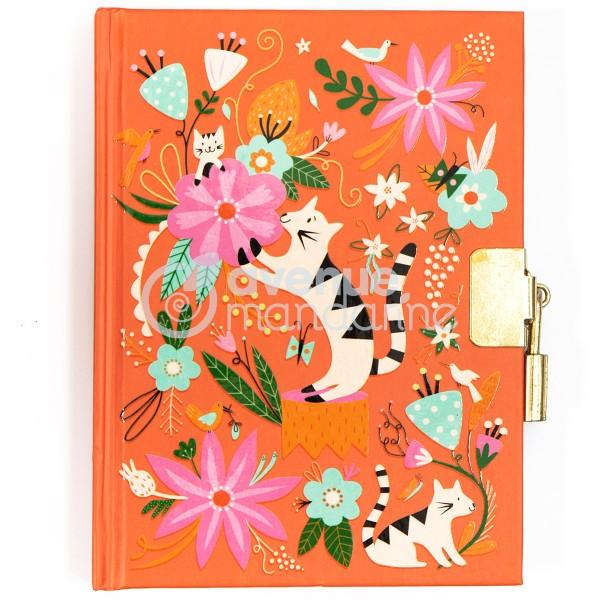 Journal intime - 14 x 10,5 cm - Chats et fleurs - 240 pages - Photo n°1