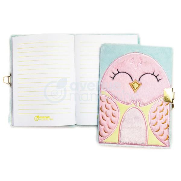 Journal intime fourrure - 17 x 12,5 cm - Oiseau - 240 pages - Photo n°2