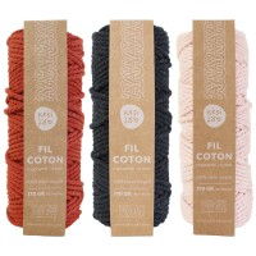 Corde pour Macramé 4 mm - Coton recyclé - Plusieurs coloris disponibles - 45 m