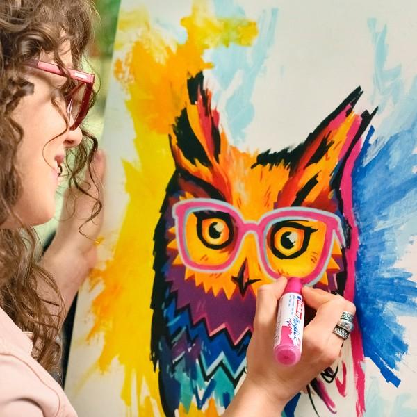 Marqueur Acrylic Edding 5000 - Pointe Large biseautée - Plusieurs coloris disponibles - Photo n°3