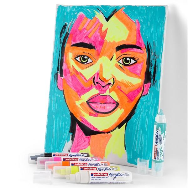Marqueur Acrylic Edding 5000 - Pointe Large biseautée - Plusieurs coloris disponibles - Photo n°5