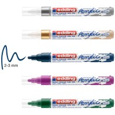 Marqueur Acrylic Edding 5100 - Pointe Moyenne - Plusieurs coloris disponibles