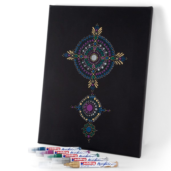 Marqueur Acrylic Edding 5100 - Pointe Moyenne - Plusieurs coloris disponibles - Photo n°5