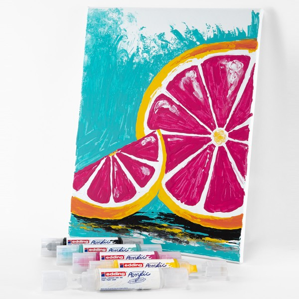 Marqueur Acrylic Edding 5400 - Double Pointe - Plusieurs coloris disponibles - Photo n°4