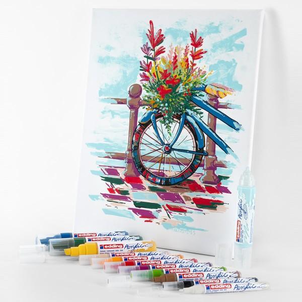Set de marqueurs Acrylic Edding - Pack Créatif Basic - 12 pcs - Photo n°3