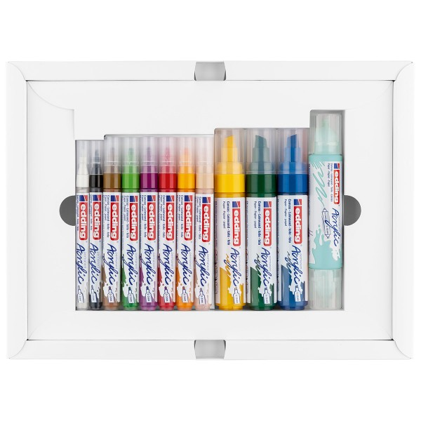 Set de marqueurs Acrylic Edding - Pack Créatif Basic - 12 pcs - Photo n°5