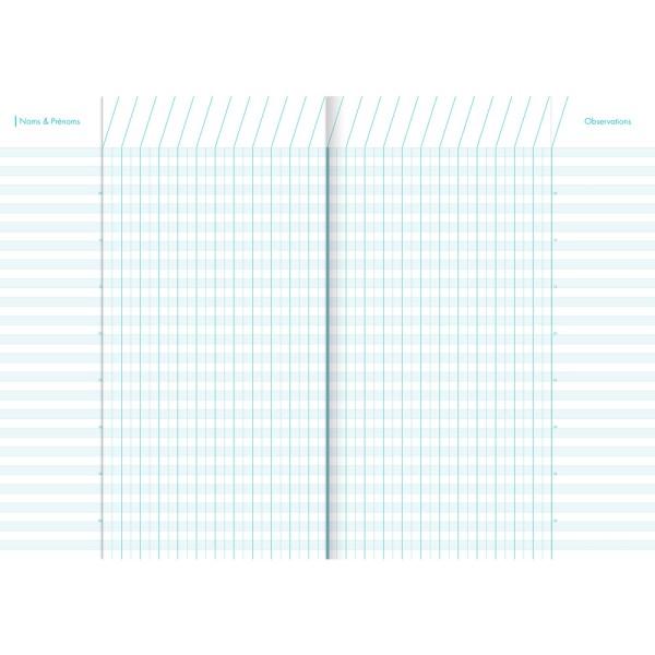 Cahier de bord pour enseignant, A4, 48 pages - Couleur aléatoire - Photo n°2