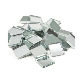 Miroir mosaique carré 20 x 20 mm, ép. 3 mm, Lot d'env. 65 pièces