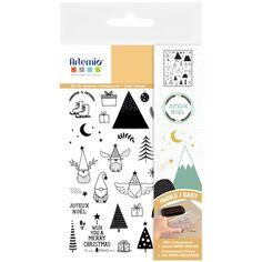 Tampons transparents - Imagine Christmas - De 0,7 à 4 cm - 35 pcs