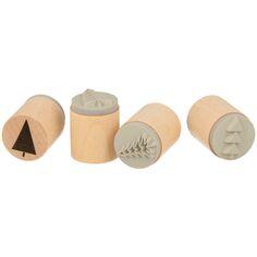Set de tampons bois Noël - Imagine Christmas - 20 x 25 mm - 4 pcs