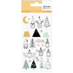 Stickers Puffies Noël - Imagine Christmas - Lutins de Noël - 24 pcs