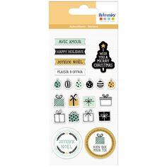 Stickers Puffies Noël - Imagine Christmas - Cadeaux - 21 pcs