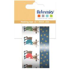 Masking Tape Noël - Beary Christmas - Rennes - 1,5 cm x 5 m - 2 pcs