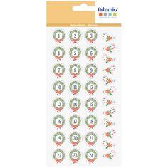 Stickers Puffies XL Noël - Beary Christmas - 2,3 cm - 37 pcs