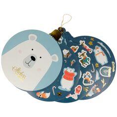 Assortiment de stickers de Noël - Beary Christmas - 17,3 x 14,1 cm - 12 feuilles