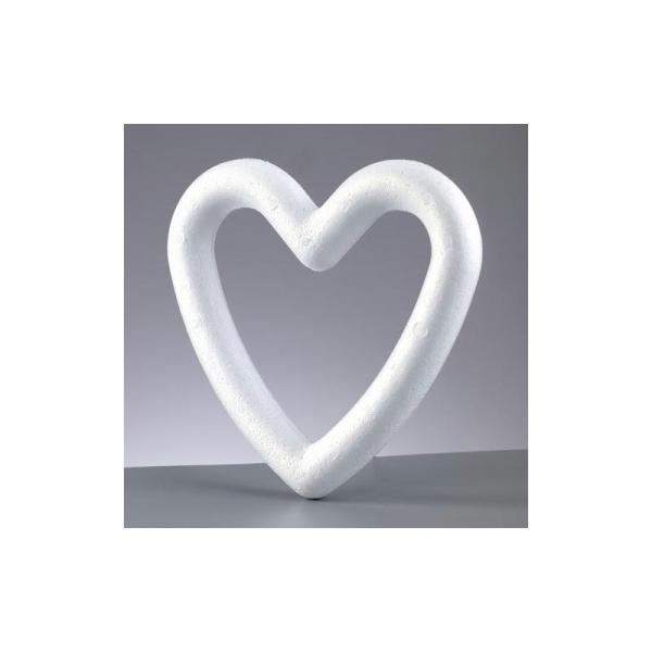Cadre / couronne forme coeur polystyrène plein 20 cm, densité supérieure - Photo n°1