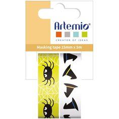 Masking Tape Halloween - Araignées - 1,5 cm x 5 m - 2 pcs