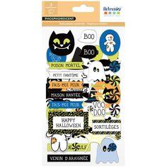Stickers cartonnés Phosphorescent - Halloween - 58 pcs