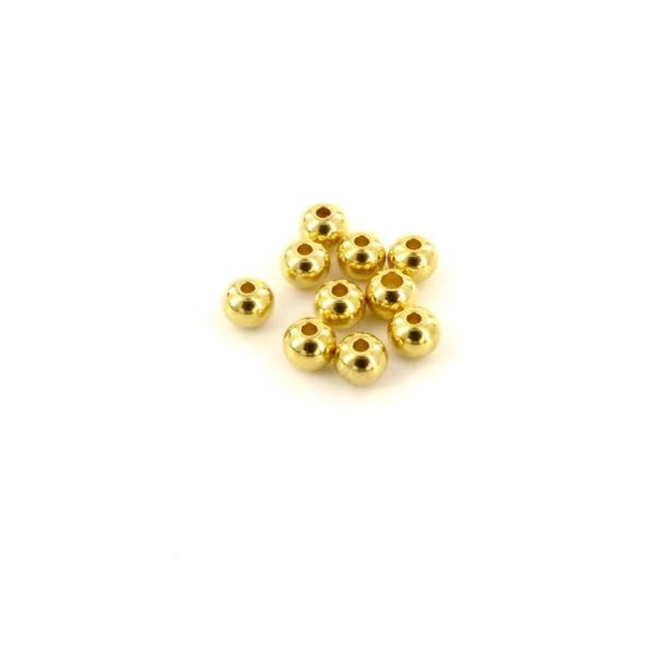 10 Perles Ronde 4mm En Acier Inoxydable Doré - Photo n°3
