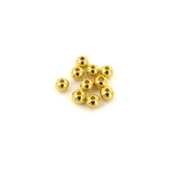 10 Perles Ronde 4mm En Acier Inoxydable Doré - Photo n°4