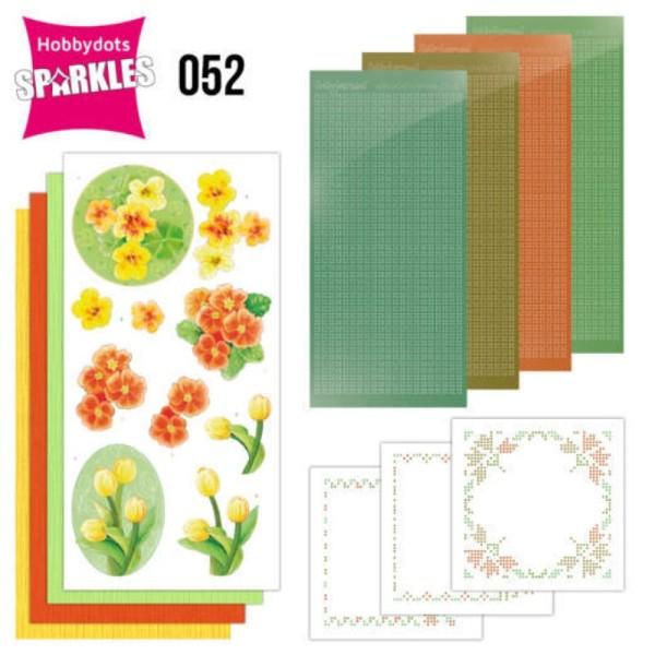 Kit Sparkles Set 52 - Fleurs jaune orangé - Photo n°1