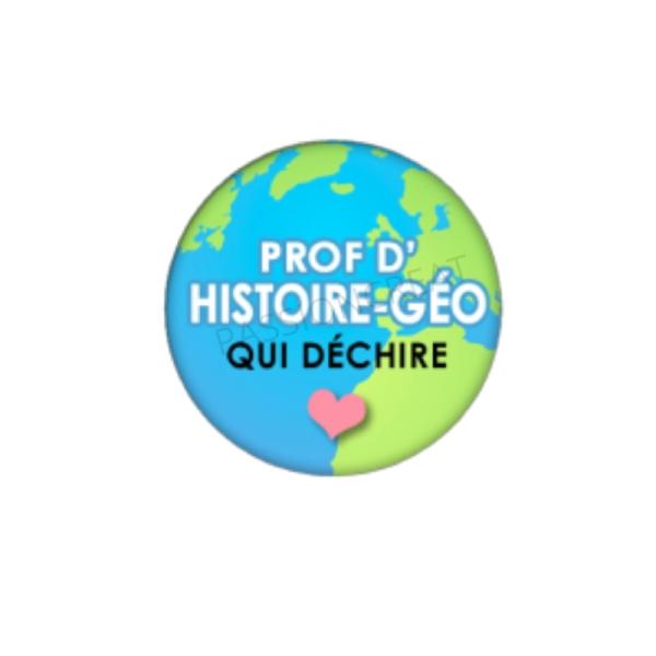 Prof d'Histoire-Géo qui Déchire 2 Cabochons 18 mm - Photo n°1