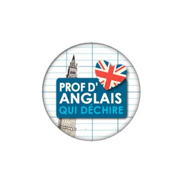Prof d'Anglais qui Déchire 2 Cabochons 18 mm - Photo n°1