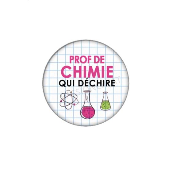 Prof de Chimie qui Déchire 2 Cabochons 18 mm - Photo n°1
