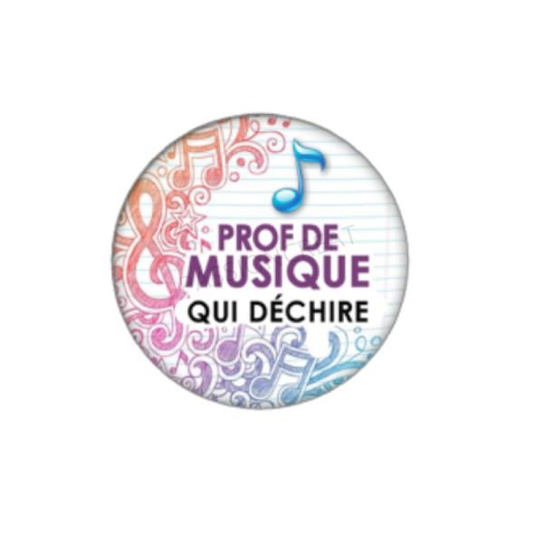 Prof de Musique qui Déchire 2 Cabochons 18 mm - Photo n°1