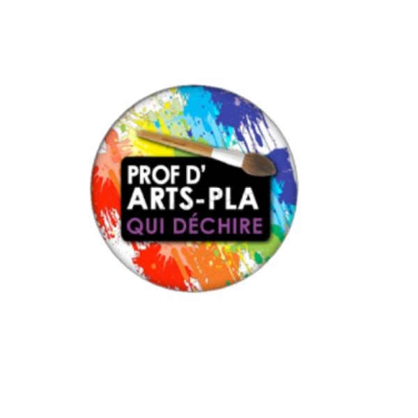 Prof d'Arts Plastique qui Déchire 2 Cabochons 18 mm - Photo n°1