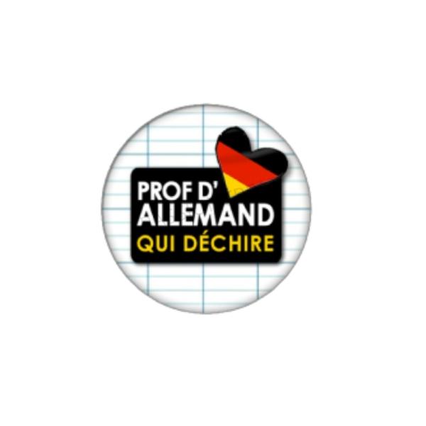 Prof d'Allemand qui Déchire 2 Cabochons 20 mm - Photo n°1