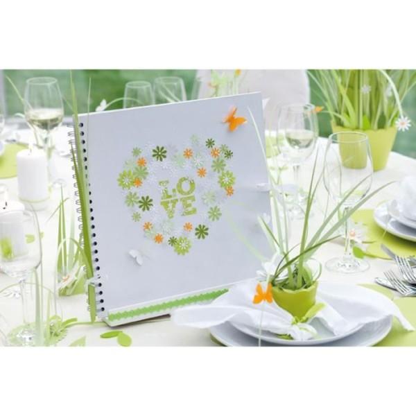 Album à spirales 30x30 Kraft Blanc 40 pages kraft blanche + lacet - Photo n°2