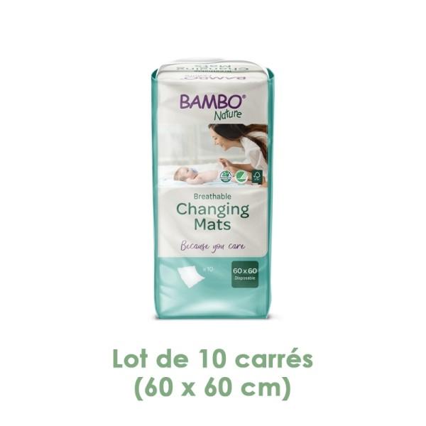 Carrés à langer 60x60 cm (lot de 10) - Bambo Nature - Photo n°1